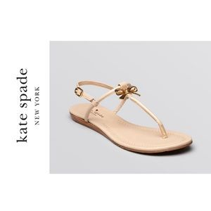 Kate Spade Tracie Patent Thong Bow Sandal